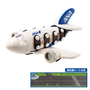 mic-o-mic コラボレーションモデル 089.435 ANA スモールジェットプレーン 滑走路シート付